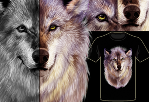 wolf shirt design by NeverGonnaTakeMe