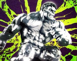 The Incredible Hulk by Stencils-by-Chase