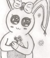 Bunny-chan the flower lover by Maylinna