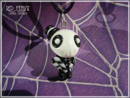 Halloween Skeleton Pendant by RedFenyx