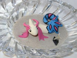 Chibi Milotic Figure by gryphonworks