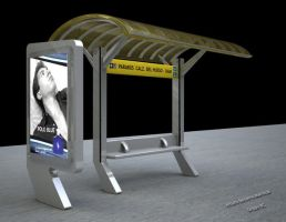 Modern Bus Stop by Zigfil