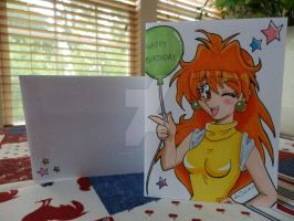 Lina Inverse Birthday Card 2 by LadyNin-Chan