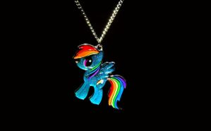 Rainbow Dash Necklace by flamevulture17