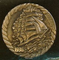 Hobo Nickel Sailing Ship by Shaun Hughes by shaun750