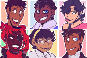 Undertale Human AU icons by Nightween