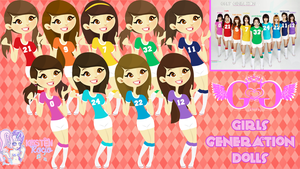 Girls Generation Dolls by RoohEditions