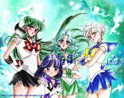 sailor moon - outer senshi  new age by zelldinchit