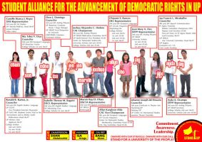 STAND-UP Slate Poster by stinglacson