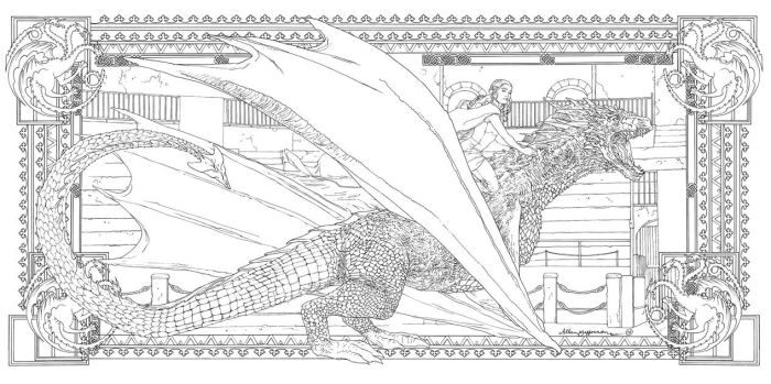 Game Of Thrones_ Coloring Book_ 12 by AllJeff