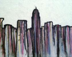 My City Skyline Abstract by khrysta