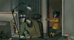Coralinestuck: Coraline and father by clockworkViper