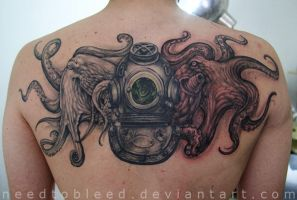 Octopus By Benjamin Otero by needtobleed