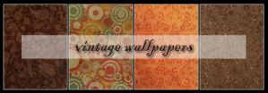 vintage wallpaper set by shotgunbaby