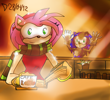 Amy and coffee by MsGraziosa