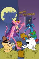 Pink Panther Trick or Pink Cover A Color by toonbaboon