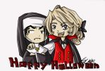 Happy Halloween wishes from Lestat and Louis by Welpe