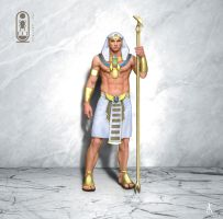Egyptian Cermonial Guard (horus) by Fetscher
