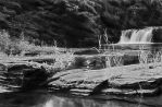 Waterfall at Porcupine Moutain NG18206-7 S110X by redmanna