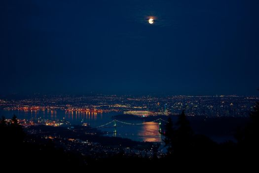 Vancouver City at Night by AoH-Silence