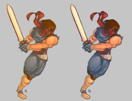 Strider Hiryu colorized by byte2k