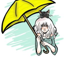 Cats and Umbrellas by AskGrendella
