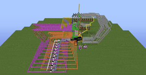 Tic Tac Toe Redstone Build - Overhead View 3 by bugworlds