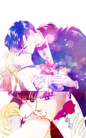 Manga Coloring: Sailor Moon: Serenity and Endymion by bakaprincess85