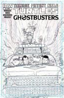 Ghostbusters Teenage Mutant Ninja Turtles #2 cover by T-RexJones