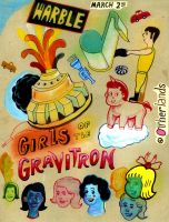 Girls of the Gravitron Flyer by hyronomous