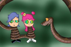 Kaa, Ami and Yumi color by jerrydestrtoyer