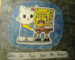 .:Kitty Comforts Spongebob:. (NEW RANT 2013 ) by AlexthePurpleKirby