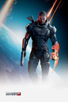 Mass Effect 3 iPhone Wallpaper by Dseo