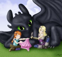 Toothless Glomp by Hollyboo2001