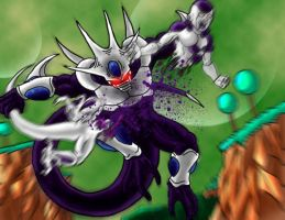 DBZ Pwnage: Cooler vs. Frieza by Virus-91
