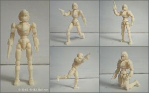 3D printed female robot figure by hauke3000