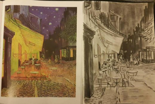 van Gogh Study - Cafe Arles (in progress 3) by Absent-Persona