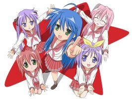 The Melancholy Of Lucky Star by robintheart