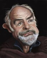 Sean Connery caricature by jonesmac2006