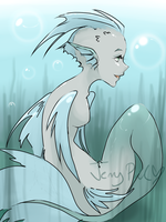 MonsterGirl Challenge Mermaid by TheJennyPill
