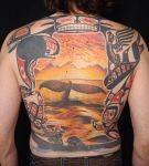 Pacific Northwest back by viptattoo