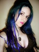 Blue hair stock 5 by LilithsStock