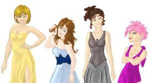The Girls in Dresses by Alatariel-Amandil