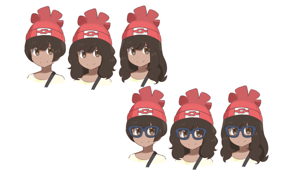 Hair Study 1 - Pokemon Sun and Moon by chocomiru02