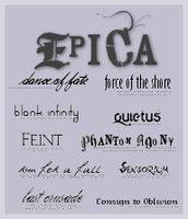 Epica Text Brushes by Rauvinne