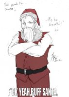A THUNDERIN' SANTA by SweetheartedSadist