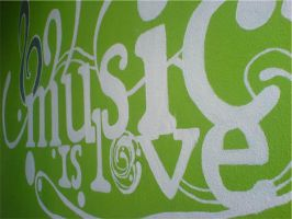 Music Is Love wall painting by Exquision
