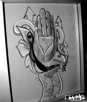 Right hand of Inspiration by aMorle