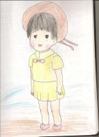 Little Setsuko Grave of the Fireflies by sealandmintbunny