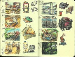 14 Moleskine Sketchbook by ange-of-the-top-hat